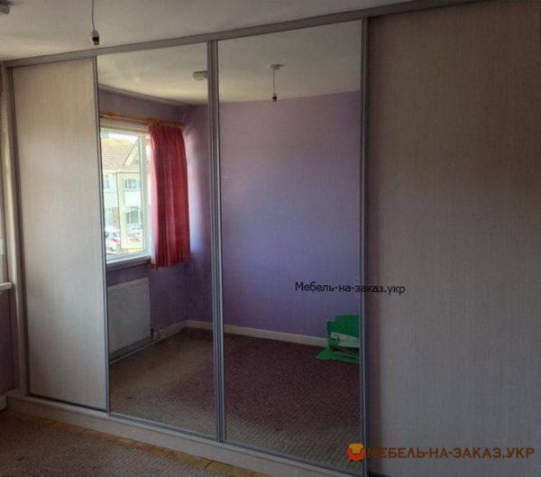 изготовление шкафа-купе с зеркальными дверями на заказ Софиевская Боращаговка