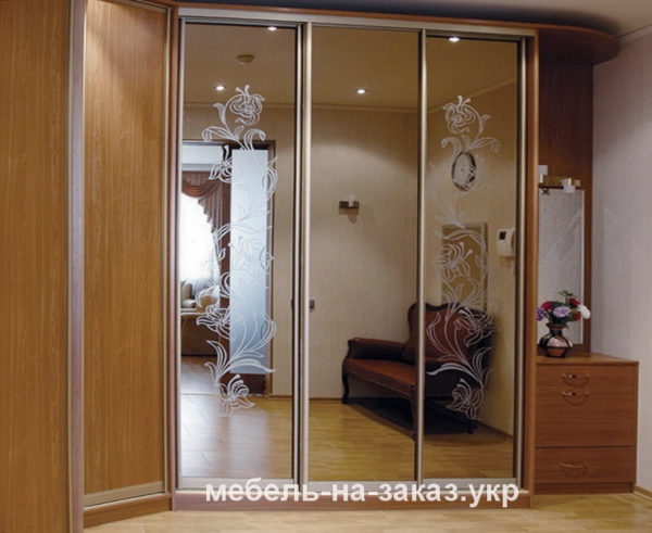 зеркальные двери для шкафа-купе цена киев