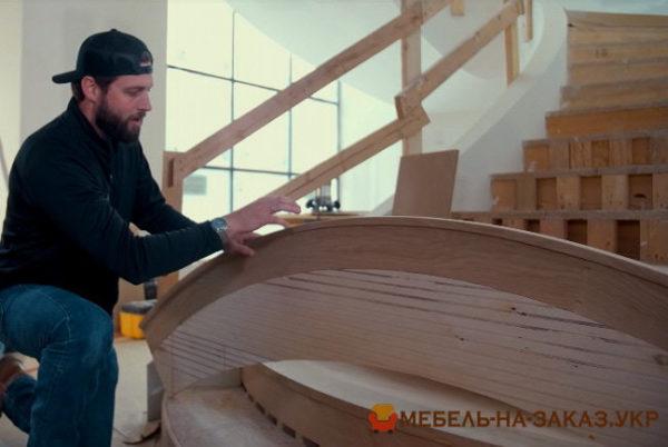 деревянная лестница на заказ Козин