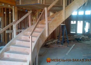 деревянная лестница на заказ Житомир