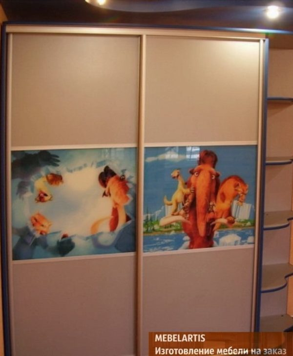 дизайнерский шкаф-купе для детей Украина