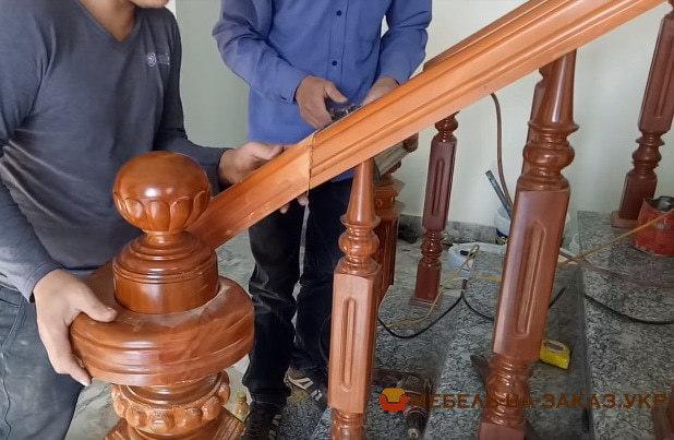 как делают перила для лестниц
