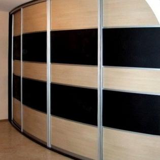 радиусный офисный шкаф купе на заказ