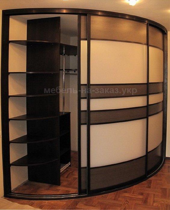 радиусный офисный шкаф купе на заказ в Киеве