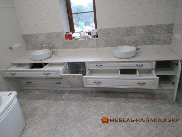 выдвижные ящики мебели в ванную