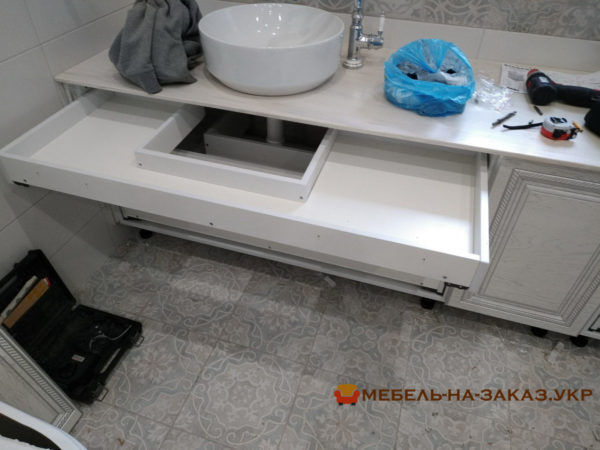 форма тумбы мебели в ванную