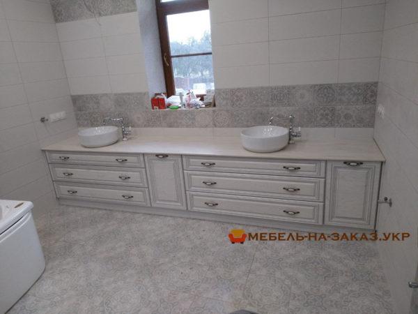 элитная мебель для ванной с каменной столешницей