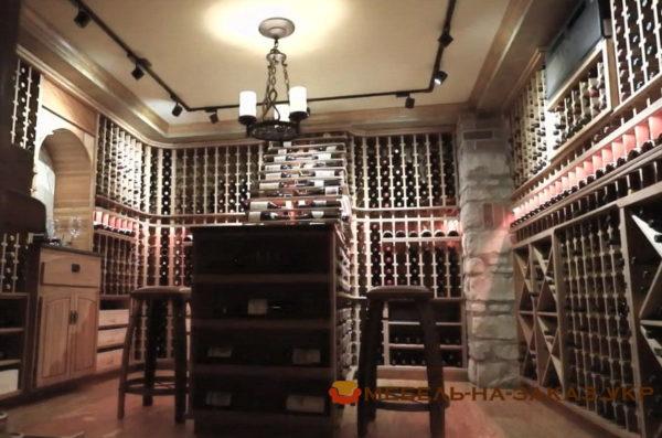 деревянная мебель для винного погреба на заказ