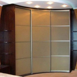 шкаф угловой под заказ радиусный