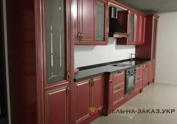 элитная кухонная мебель красная
