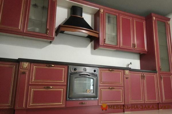 стили кухни красная