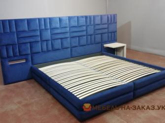 Синяя кровать на заказ в Киеве