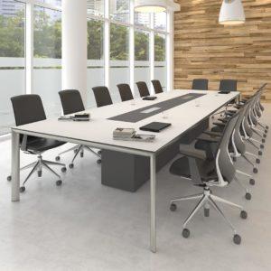 белый стол для переговорной большой