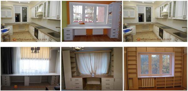 фотографии мебели вокруг окна Украина
