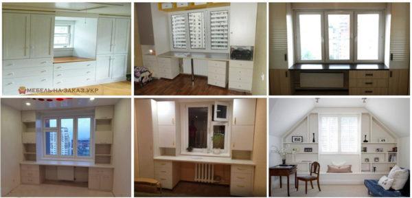 мебель вокругл окна под заказ в Киеве