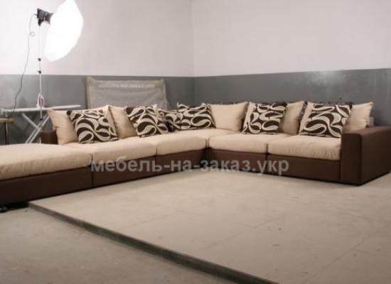 угловой большой диван на заказ по индивидуальным размерам