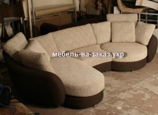 угловой диван закругленный