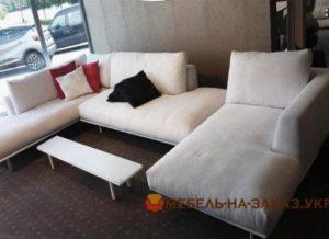 коричневый угловой диван под заказ