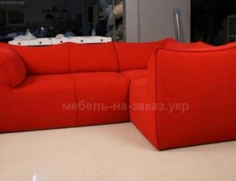 красный угловой диван под заказ