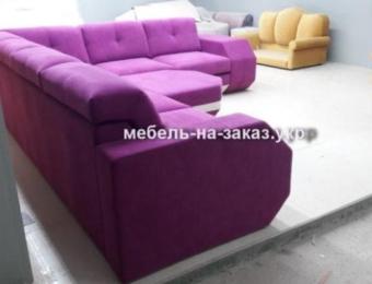 сиреневый угловой диван