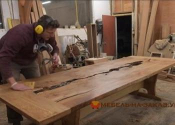деревянный стол река на заказ