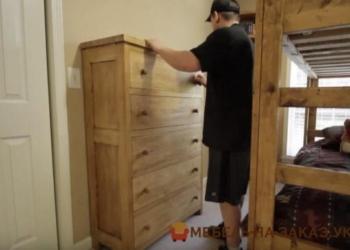 как делают деревяный комод на заказ