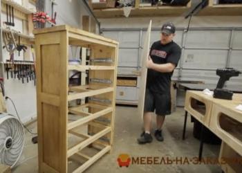 как делают деревяный комод
