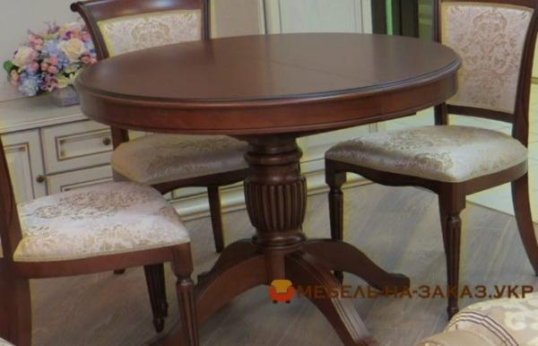 кргулый кухонный дубовый стол