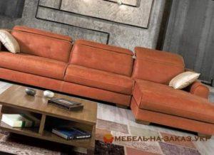 кожанный угловой диван под заказ