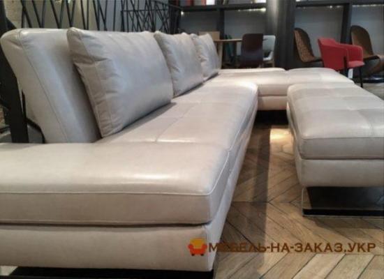 кожанный угловой диван на заказ
