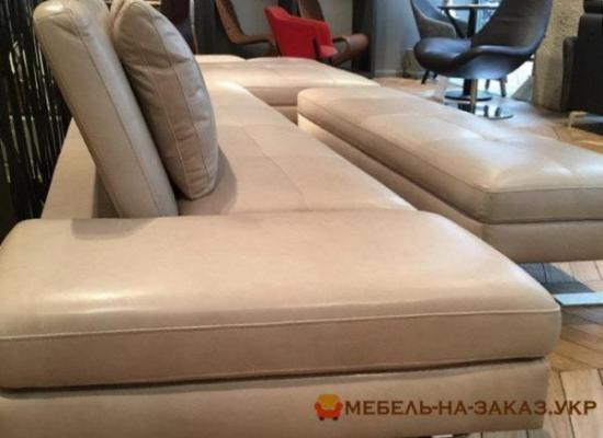 кожанный угловой диван