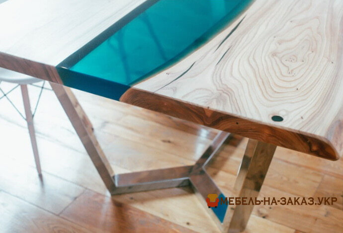 Как сделать стол Река с стеклом своими руками