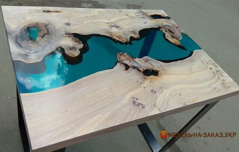 Дизайнерский стол из слэба