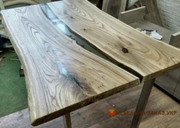 Столы река из слэба дерева