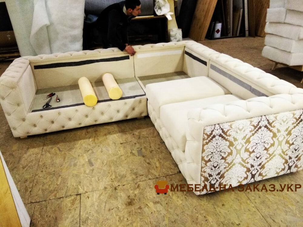 угловой мягкой мебели под заказ Вишневое