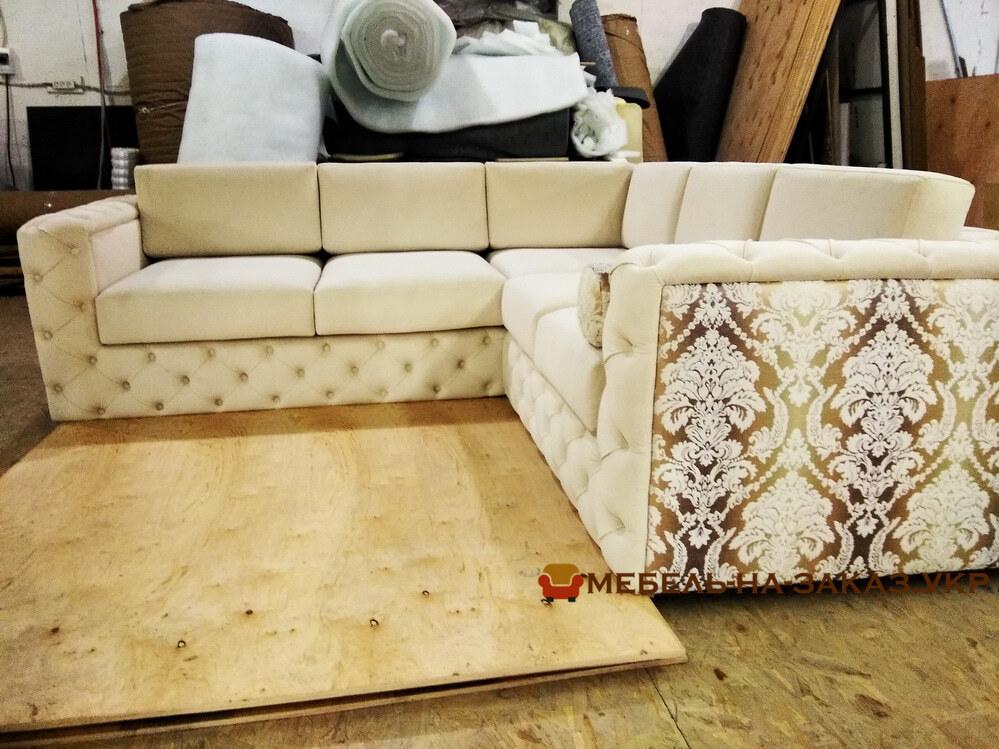 белый дизайнерский угловой диван