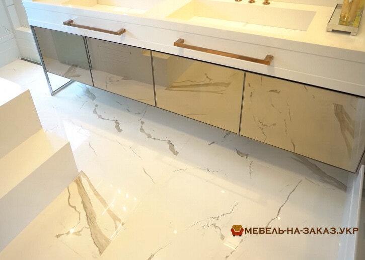 зеркальная мебель в ванную
