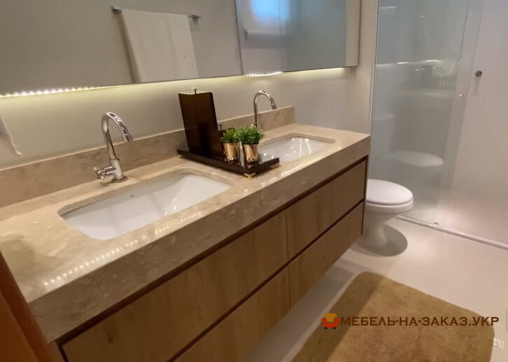 шпонированная мебель в ванную