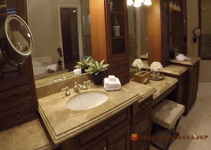 мебель в ванную из массива сосны под заказ