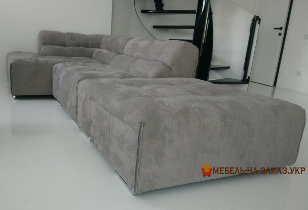 угловой серый диван под заказ