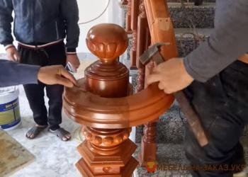 дизайнерская лестница из дерева под заказ Киев