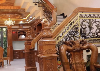 лестница из массива дуба под заказ