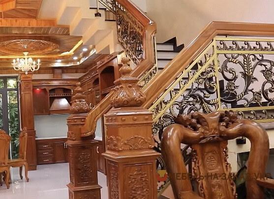 деревянная лестница в азиатском стиле