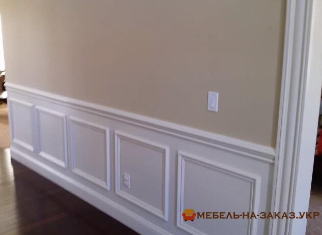 Декорирование стен ванерными панелями