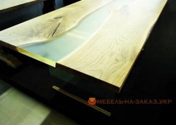 деревянная столеница с эпоксидной смолой под заказ Киев
