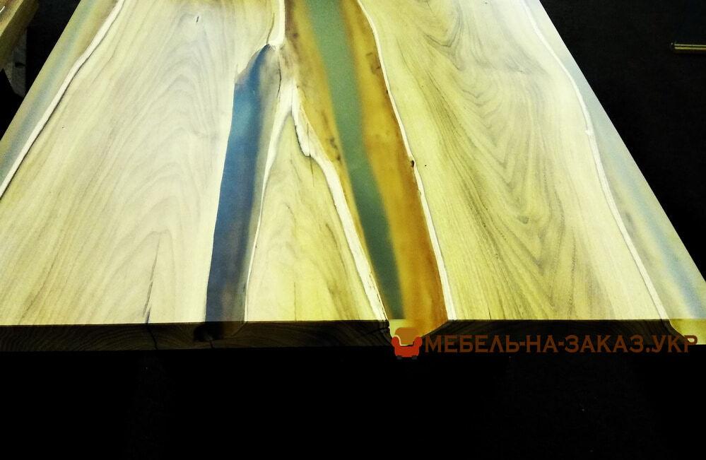 деревянная столеница с эпоксидной смолой под заказ