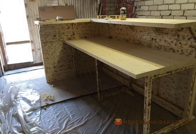 как делают деревянные барные стойки под заказ Украина Цена