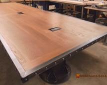 Деревянные столы лофт в офис