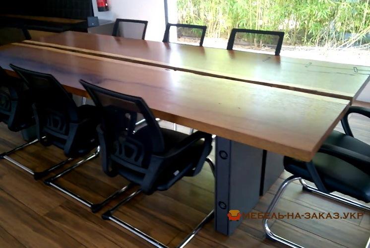фото деревянных столов в переговорную под заказ
