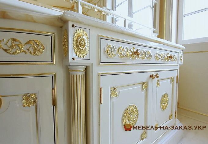 изготовление мебели из дерева в ванную на заказ в Киеве